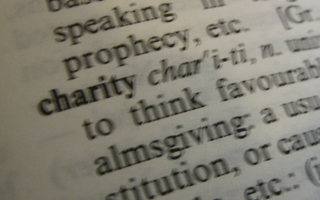 image showing definition of charity